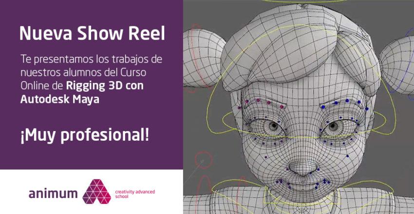 Reel de Rigging 3D en Autodesk Maya