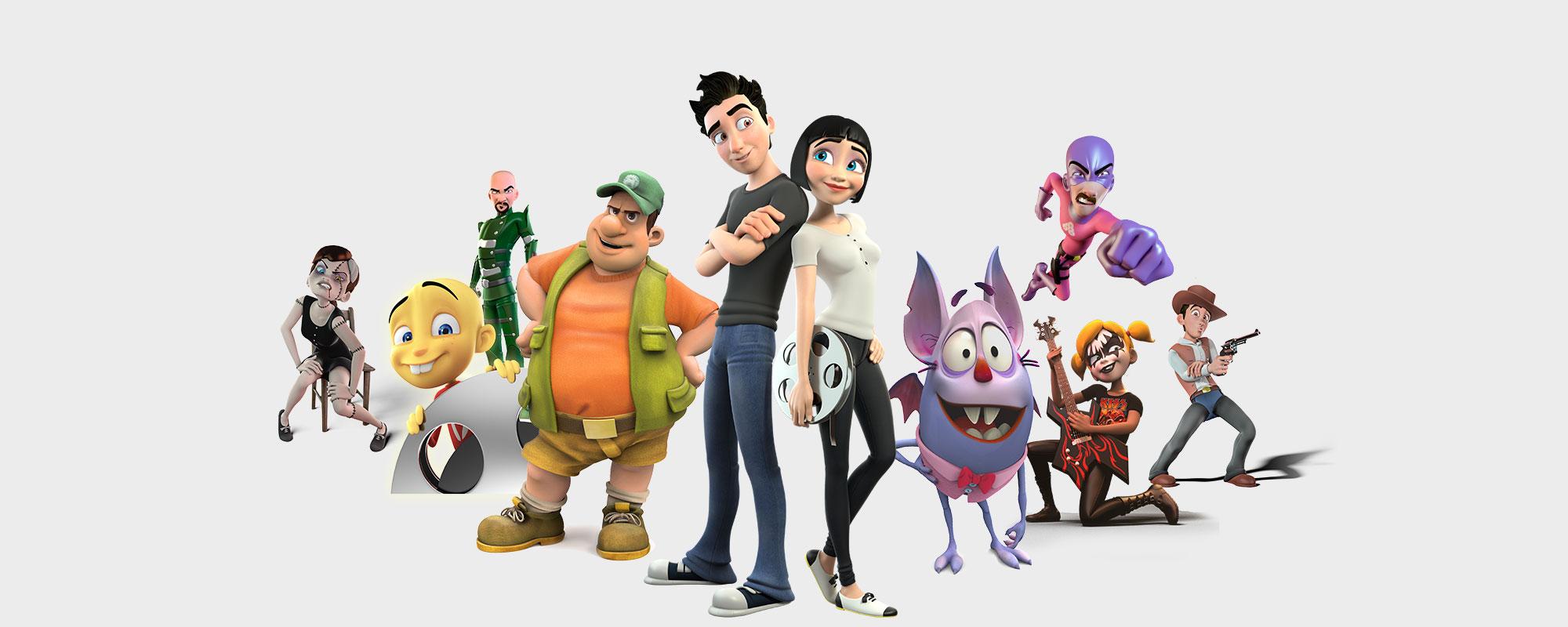 Master online animaci n personajes 3d cine - Imagenes con animacion ...