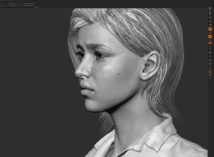 ellie the last of us zbrush