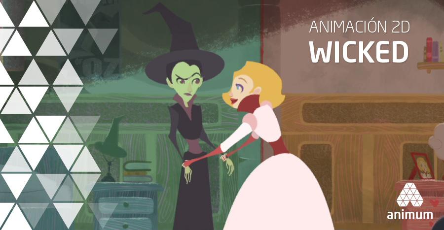 Wicked en animación 2D