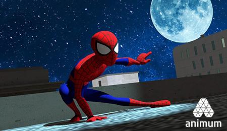 Plano de animación 3D Spiderman webinar gratuito Animum