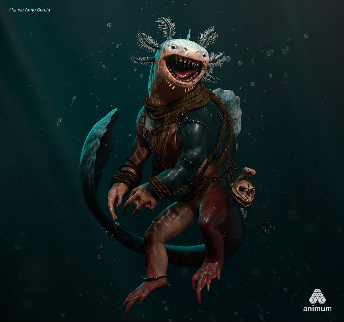 Criatura modelado 3d animum
