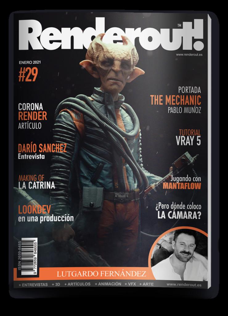 revista Renderout! portada enero