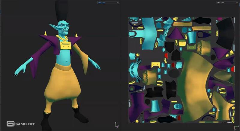 Modelos 3D para videojuegos móviles Gameloft